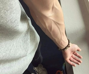 boy, veins, and guy image