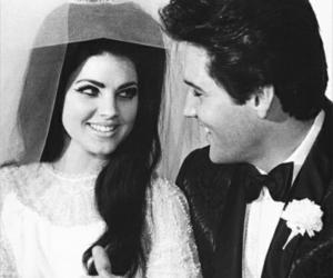 Elvis Presley, priscilla presley, and love image