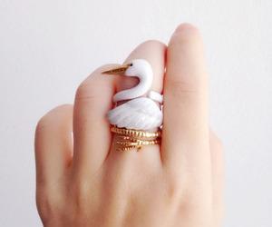 ring, bird, and jewelry image