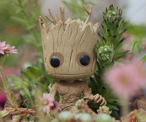 nature, groot, and funko pop image