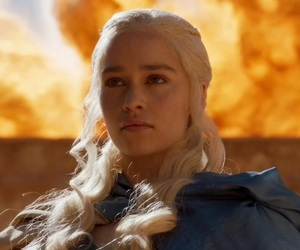 fire, got, and emilia clarke image