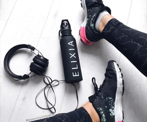 gym, fitness, and headphones image