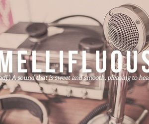 words, mellifluous, and sound image