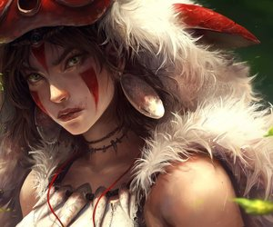 anime, princess mononoke, and mononoke hime image