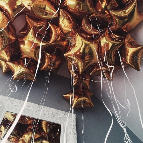 stars, balloons, and gold image