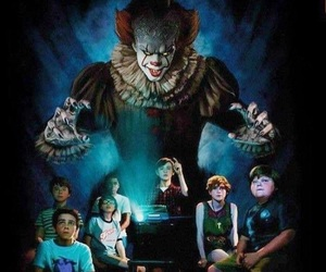 it, pennywise, and books image