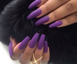nails, purple, and style image