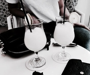 drink, food, and white image