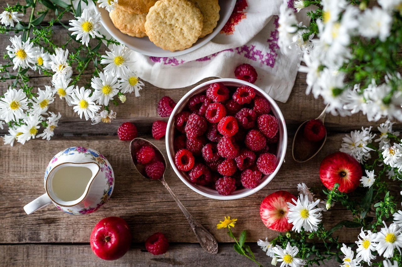 berries, framboise, and fruit image
