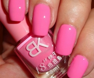nail art, rosa, and unghie image