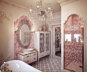 pink, bathroom, and luxury image