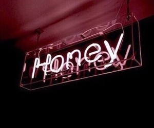 honey, pink, and neon image