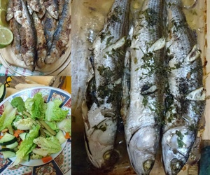delicious, fish, and dishes image
