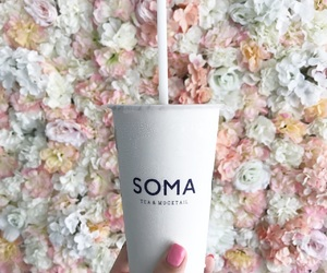 flowers, pink, and SoMa image
