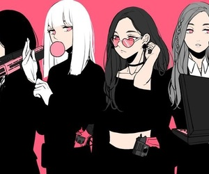 blackpink, art, and kpop image