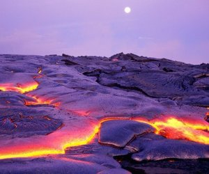 lava, nature, and volcano image