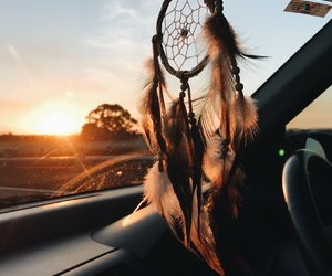 dream catcher, photography, and sunset image