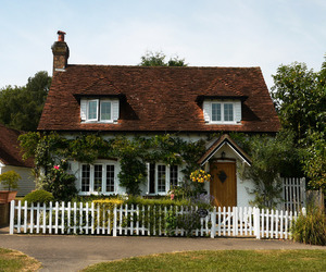cottage and flowers image