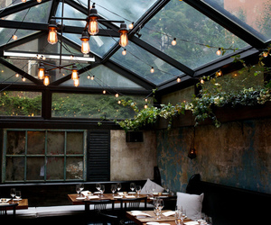 light, interior, and restaurant image