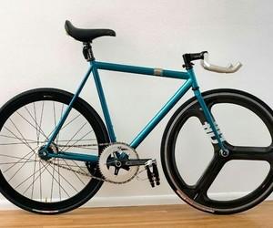 bike, blue, and fixed image