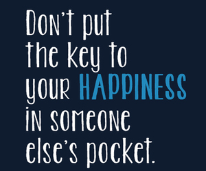 happiness, key, and quotes image