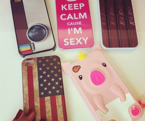 iphone, instagram, and keep calm image