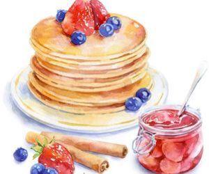 pancakes, art, and food image