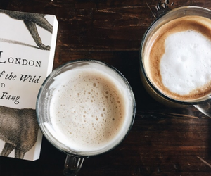 coffee, drink, and book image