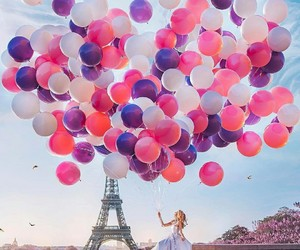 paris, balloons, and travel image