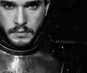 jon snow, game of thrones, and kit harington image