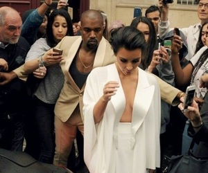 kim kardashian, kanye west, and kuwtk image