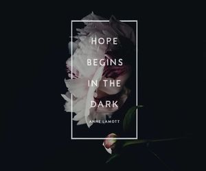 dark, quote, and flower image