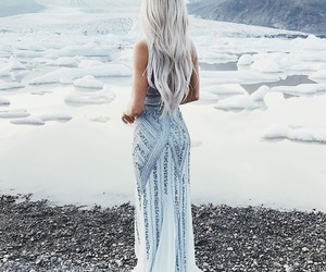 dress, fashion, and ice image