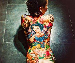 tattoo, snow white, and disney image