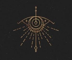 eye, tattoo, and runes image