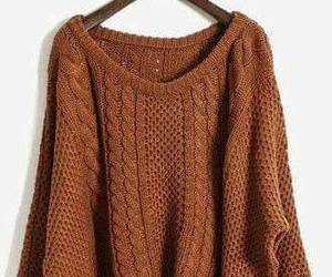 fashion, sweater, and brown image
