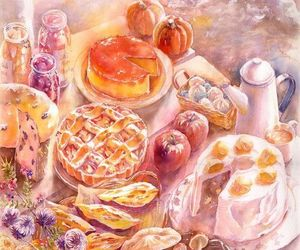 apples, art, and autumn image