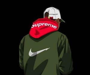 supreme, nike, and art image