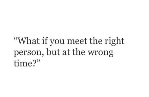 Right Timing ? On We Heart It