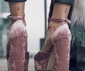 high heel, legs, and shoes image