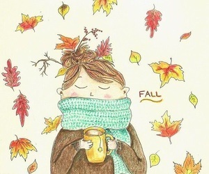 fall, autumn, and illustration image