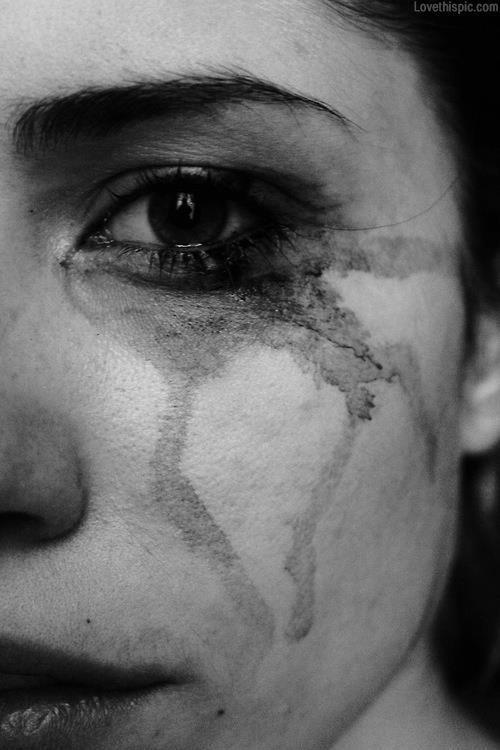 sad, cry, and tears image