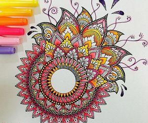 mandala, art, and colorfull image