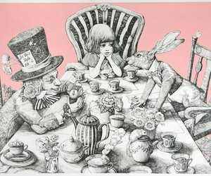 alice, alice in wonderland, and bunny image