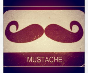 hipster, moustache, and mustache image