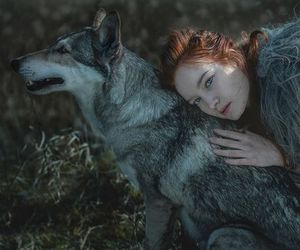 beauty, dark, and wolf image