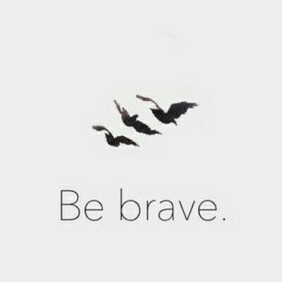 divergent, be brave, and bird image