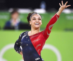 gymnastics, laurie, and olympics image