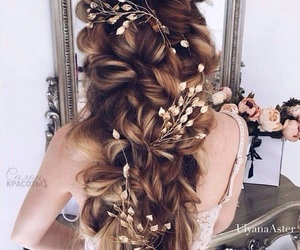 brown, hair, and gold image