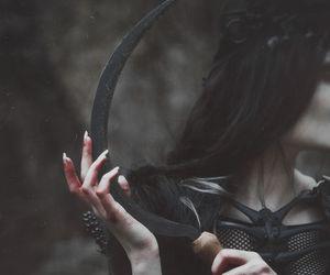dark, black, and fantasy image
